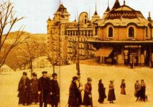 Early view of the Caux Palace Hotel