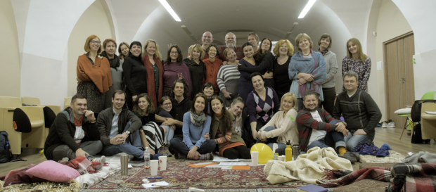 Group photo of the NVC training by Olga Shevchuck