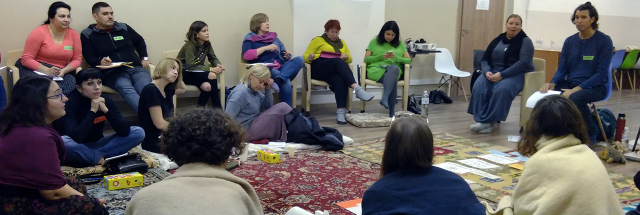 Nonviolent communication training in Kyiv | Photographer: L. Reijnders